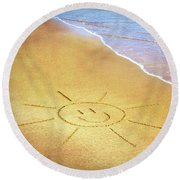 Summer Sun Round Beach Towel