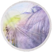 Summer Sunburst Round Beach Towel