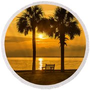 Summer Sunrise - Charleston Sc Round Beach Towel