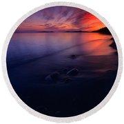Summer Sunset       Round Beach Towel