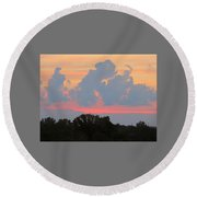Round Beach Towel featuring the photograph Summer Sunset In Missouri by Robin Regan
