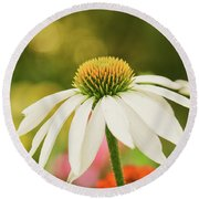 Summer Sunshine Round Beach Towel