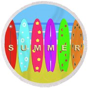 Summer Surf Round Beach Towel
