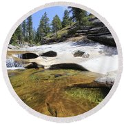 Round Beach Towel featuring the photograph Summer Swimming Hole by Sean Sarsfield