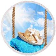 Summer Swing Round Beach Towel