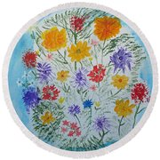 Summer Tee Round Beach Towel