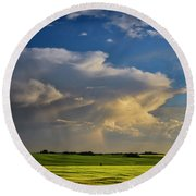 Summer Thunderstorm Round Beach Towel
