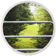 Round Beach Towel featuring the photograph Summer Vibes On The Farm by Shelby Young