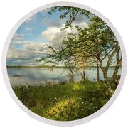 Round Beach Towel featuring the photograph Summer View by Rose-Marie Karlsen