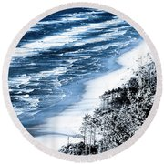 Summer Waves Cape Lookout Oregon Coast Round Beach Towel