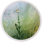 Summer Wildflower Round Beach Towel