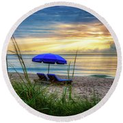 Round Beach Towel featuring the photograph Summer's Calling by Debra and Dave Vanderlaan