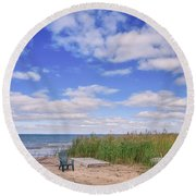 Summers End Round Beach Towel