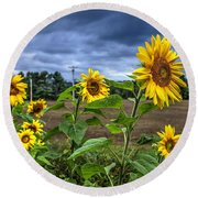 Summers Over Round Beach Towel