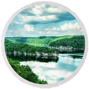 Summertime At Long Point Round Beach Towel
