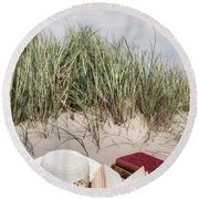 Summertime Is Reading Time Round Beach Towel