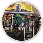 Summertime New Orleans Round Beach Towel