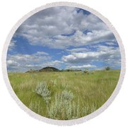 Summertime On The Prairie Round Beach Towel