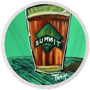 Summit 2 Round Beach Towel