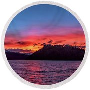Summit Cove And Summerwood Sunset Round Beach Towel