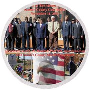 Round Beach Towel featuring the photograph Sumter County Memorial Of Honor by Jerry Battle