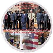 Sumter County Memorial Of Honor Round Beach Towel