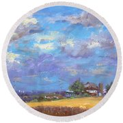Sun And Clouds Georgetown  Round Beach Towel