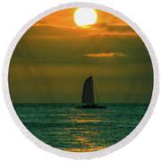 Sun And Sail Round Beach Towel