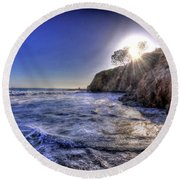 Sun And Sea Round Beach Towel