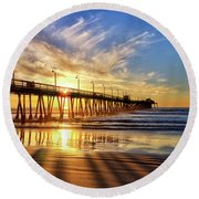 Sun And Shadows Round Beach Towel