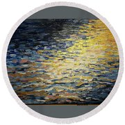 Sun And Wind On Water Round Beach Towel