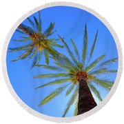Sun Bed View Round Beach Towel