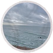Along The North Coast Round Beach Towel