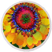 Sun Burst Round Beach Towel