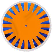 Sun Burst Round Beach Towel by Todd Klassy