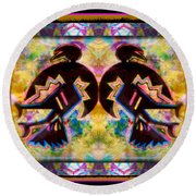 Sun Dance Angels Round Beach Towel