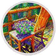Sun Dance On Deck Round Beach Towel