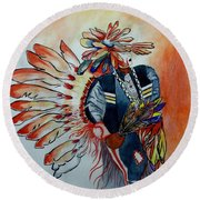 Sun Dancer Round Beach Towel