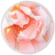 Sun-drenched Rose Round Beach Towel