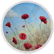 Sun Drenched Round Beach Towel