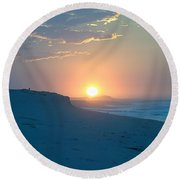 Round Beach Towel featuring the photograph Sun Dune by  Newwwman