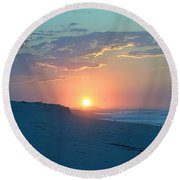 Round Beach Towel featuring the photograph Sun Glare by  Newwwman