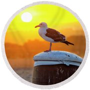 Sun Gull Round Beach Towel