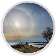 Sun Halo Round Beach Towel