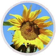 Sun In The Sky Round Beach Towel