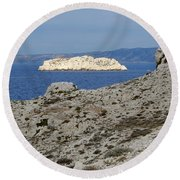 Sun Kissed Island Round Beach Towel