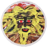 Sun Of Man Round Beach Towel
