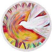 Healing Wings Round Beach Towel