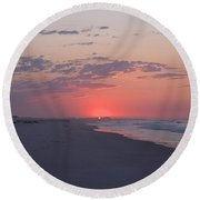 Round Beach Towel featuring the photograph Sun Pop by  Newwwman