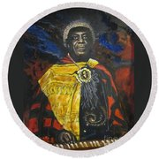 Blue Cat Productions            Sun-ra - Jazz Artist Round Beach Towel